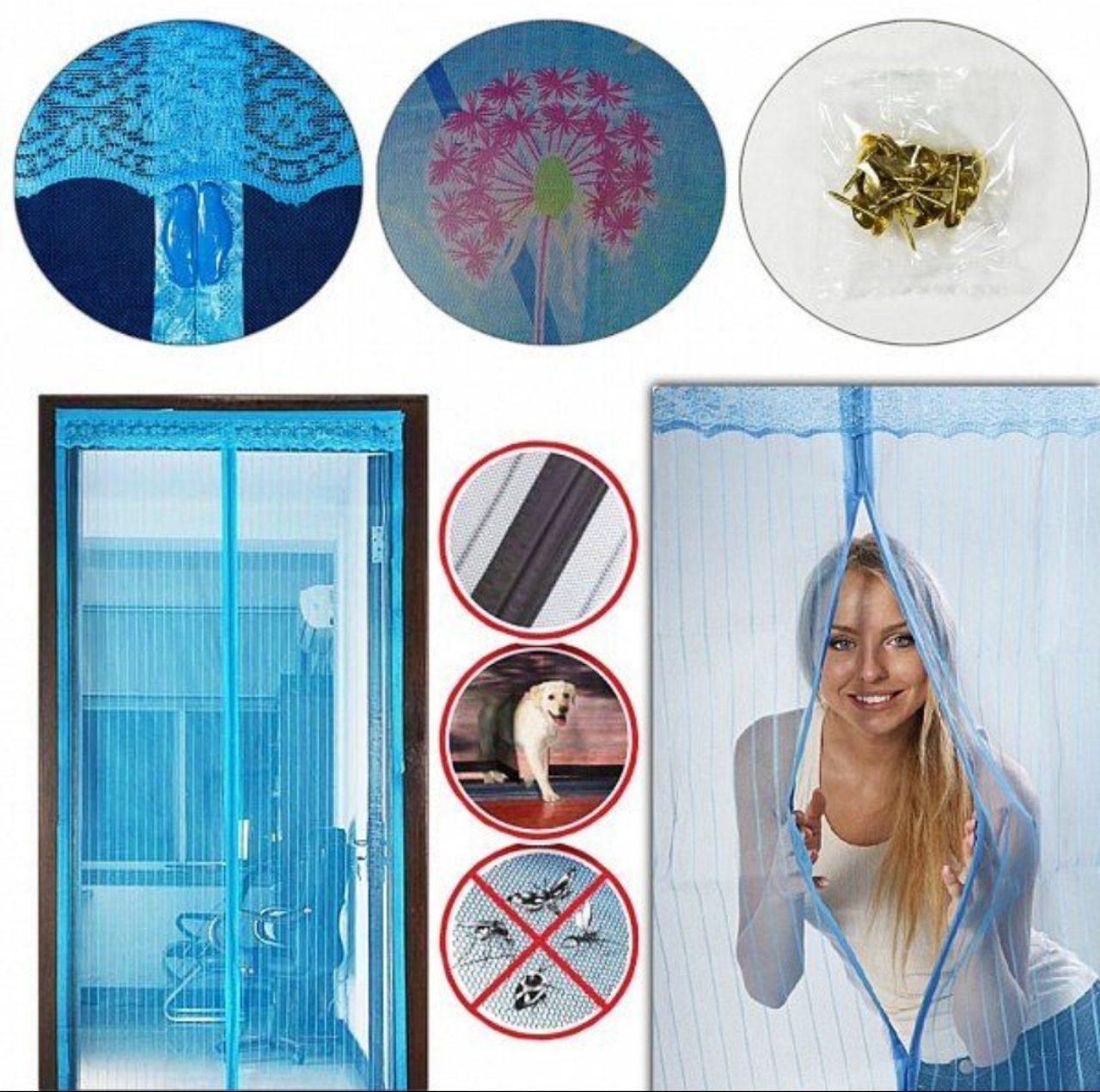 Москитная сетка с магнитами на дверной проем, фото 1