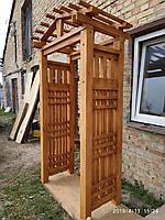 Пергола деревянная садовая, фото 1