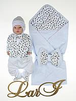 Летний конверт с человечком на выписку для новорожденных Сеньор