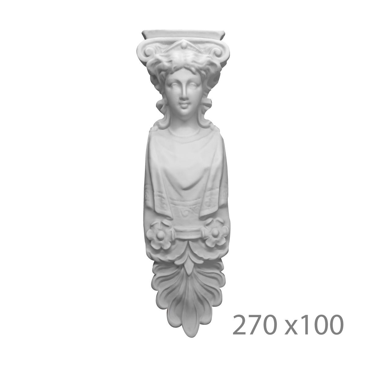 Кариатида из гипса, гипсовая кариатида, статуя кр-4