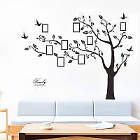 Наклейка на стену, виниловые наклейки, Фото дерево, фотодерево,  1м80см * 2м50см (4листа 30см*90см)