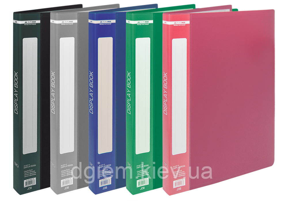 Папка з 30 файлами А4 BUROMAX