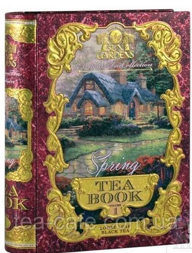 """Чай чорний листовий Sun Gardens """"Spring"""" (Весна) том №1 з/б 100 гр."""