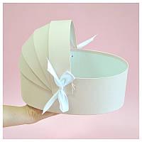 Коробка люлька для цветов 27*19*10 см пудровая