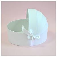Коробка люлька для цветов 20*13*8 см белая, фото 1