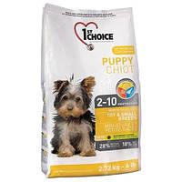 Сухой супер премиум корм для щенков мини и малых пород 1st Choice Puppy Toy&Small Chicken (2.72 кг.)