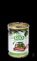 Оливки зеленые с косточкой Рио 300 г