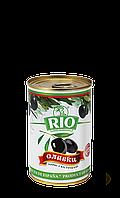 Оливки черные с косточкой Рио 300 г