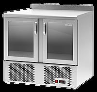 Барный холодильный стол Polair TDi2-G со стеклянными дверями и нижним агрегатом