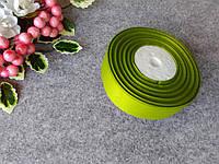 Репс однотонный на метраж. Цвет оливковый.  Ширина 2.5 см