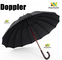 Зонт-трость Doppler 74166 механический. Зонт Doppler Черный