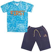 Летний детский костюм для мальчика KS-19-15-2 *Пересечение эпох*