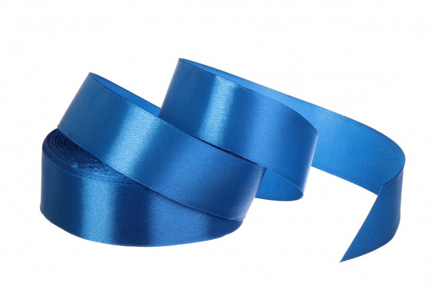 Лента атласная 25 мм 23 метра синий