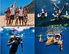 Полнолицевая панорамная маска для плавания RoundTech (S/M) с креплением для камеры, фото 3