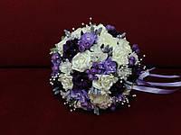 Свадебный букет-дублер в молочно-фиолетовых тонах