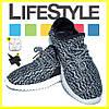 Стильные кроссовки Adidas Yeezy Boost 350 (35-41 размер) + 2 Подарка Черно-белый (36-37 р.) - Фото