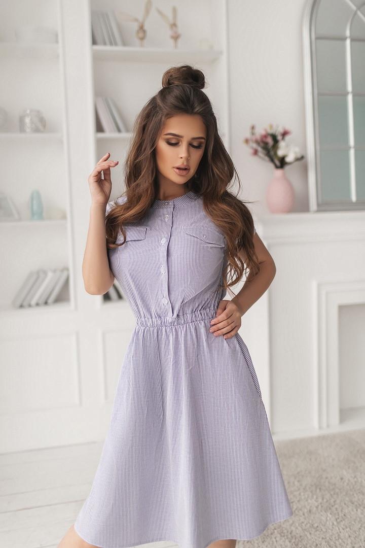 Платье женское летнее с карманами большие размеры