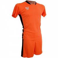 Футбольная форма детская Swift PRIORITET (неоново оранжевая - черный) 152 см