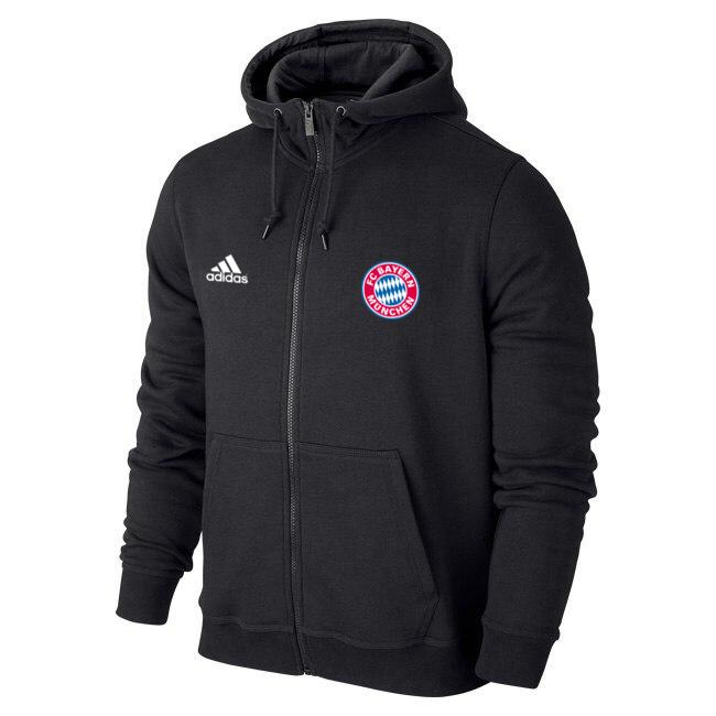 Чоловіча спортивна толстовка (кофта) Баварія-Адідас, Bavaria, Adidas, чорна