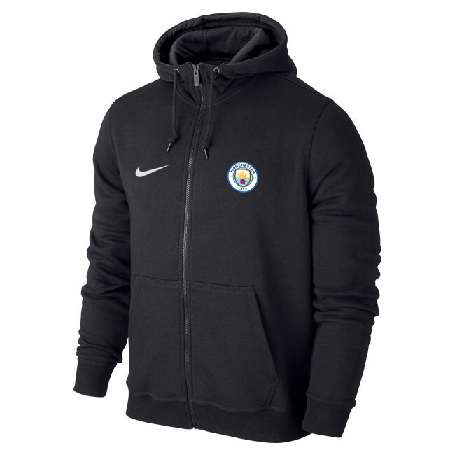 Чоловіча спортивна толстовка (кофта) Манчестер Сіті-Найк, Manchester City, Nike, чорна