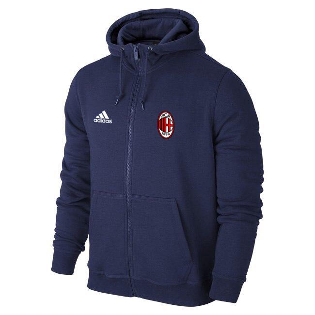 Мужская спортивная толстовка (кофта) Милан-Адидас, Milan, Adidas, синяя