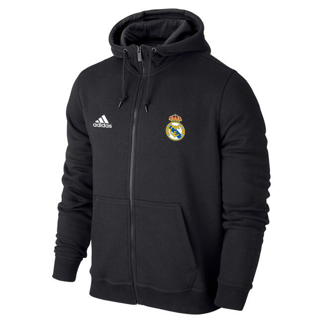 Чоловіча спортивна толстовка (кофта) Реал Мадрид - Адідас, Real Madrid, Adidas, чорна