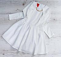 Детское нарядное платье р. 128-146 Мишель-белое, фото 1