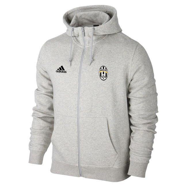 Мужская спортивная толстовка (кофта) Ювентус-Адидас, Juventus, Adidas, серая