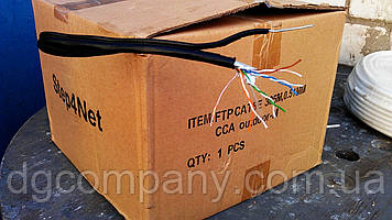 Кабель вита пара FTP зовнішня c тросом,ВСА,305м