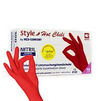 Красные однорaзовые нитриловые перчатки Style (100 шт)