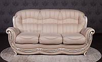 """Прямой диван в гостиную """"Джове"""" в классическом стиле от производителя, каркас из дерева, спальное место"""