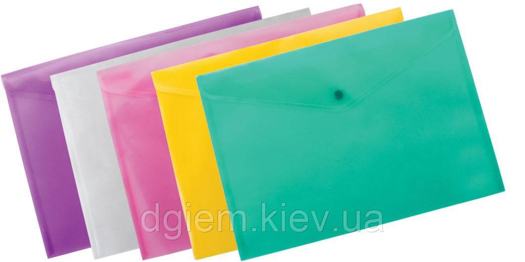 Папка-конверт А5 на кнопці прозора