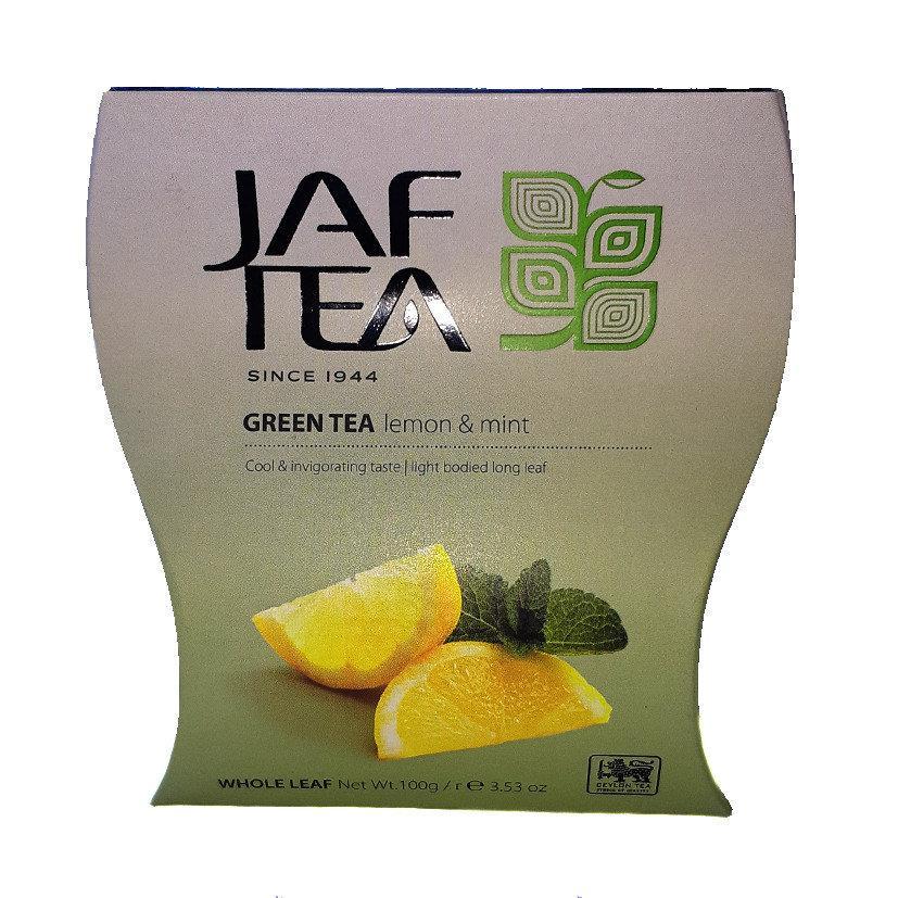 Чай зелёный Jaf Tea Lemon & Mint Лимон-Мята 100г