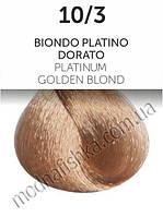 Стойкая крем-краска Oyster Perlacolor 10/3, Платиновый, золотистый блонд 100мл