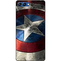 Силиконовый бампер чехол для Huawei Honor V10 с рисунком Капитан Америка