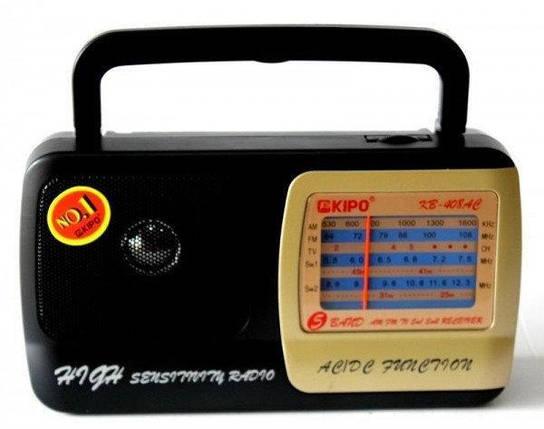Портативный радиоприемник на батарейках KIPO KB-408AC Fm радиоприемник от сети и батареек Fm радио, фото 2