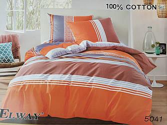 Сатиновое постельное белье евро ELWAY 5041 «Абстракция»