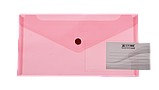 Папка-конверт на кнопке DL TRAVEL глянцевая, прозрачная, фото 2