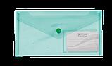 Папка-конверт на кнопке DL TRAVEL глянцевая, прозрачная, фото 3