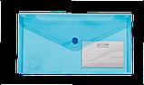 Папка-конверт на кнопке DL TRAVEL глянцевая, прозрачная, фото 4