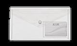 Папка-конверт на кнопке DL TRAVEL глянцевая, прозрачная, фото 5