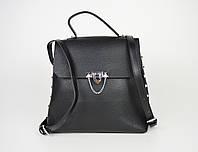 Сумка-рюкзак кожаная черная Polina&Eiterou 0228