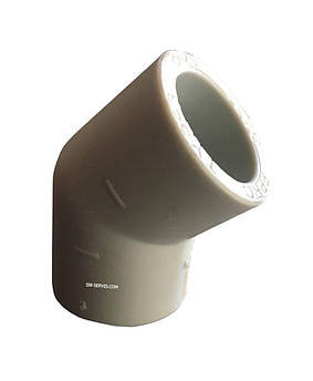 Колено ппр соединительное д 63*45 tebo technics