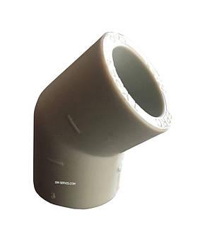 Колено ппр соединительное д 90*45 tebo technics