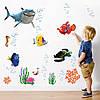 Набор морских наклеек в детскую комнату Немо (виниловые самоклеющиеся детские наклейки) матовая 1000х600 мм