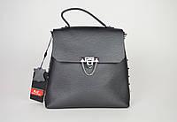 Сумка-рюкзак кожаная никель Polina&Eiterou 0228
