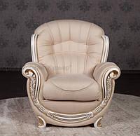 """Мягкое кресло в классическом стиле """"Джове"""" под заказ от производителя, каркас из натурального дерева"""