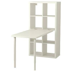 IKEA KALLAX Стеллаж со столом, белый  (191.230.63)