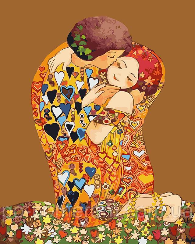 Раскраска для взрослых Поцелуй (BK-GX23296) 40 х 50 см ...