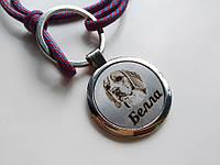 Адресник с гравировкой по фото кулон для собак и кошек жетон Стандарт